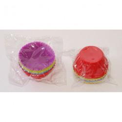 А603 Силиконовые многоразовые формы для выпечки кексов/маффинов - 12 шт/уп