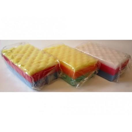 Губка для тела 3 цвета (17 х 10 х 6 см)