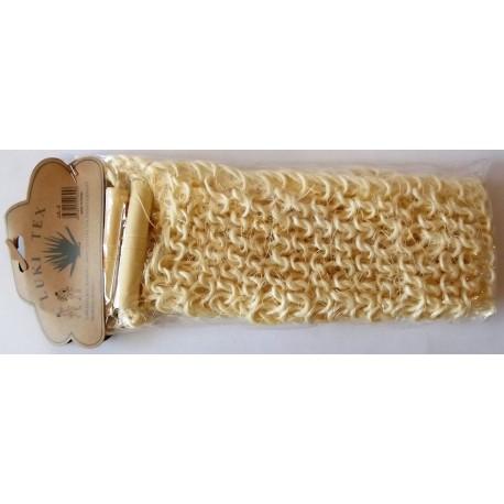 A42 Мочалка натуральная, крупная вязка, деревянная ручка