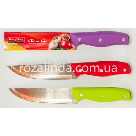 "R340 Нож цветная ручка 6"""