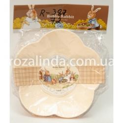 """R387 Набор тарелок """"Ромашка"""" (4 шт.) средние Ø 17,5 см"""