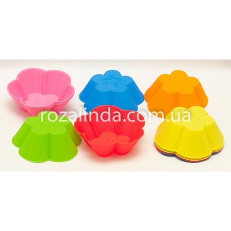 """R68 Силиконовая форма для кекса """"Цветочек"""""""