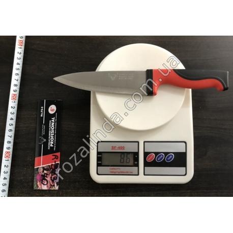 """R323 Нож красная ручка 6"""""""
