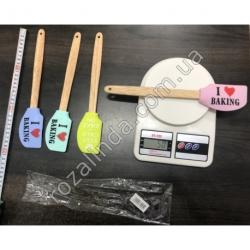 R290 Лопатка силиконовая с бамбуковой ручкой