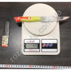 """R338 Нож оранжевая жёлтая ручка 5"""""""