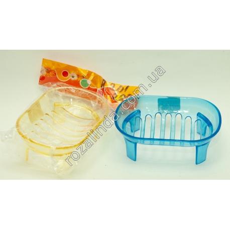 R201 Мыльница для ванны прозрачная цветная на ножках