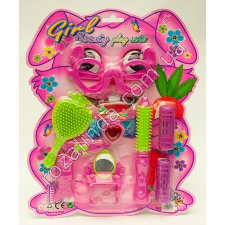 R658 Набор парикмахера на блистере (с очками)