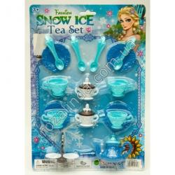R645 Детский чайный набор голубой (2 сахарницы + конфктница) на блистере