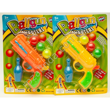 R647 Пистолет + 3 пули - шарики + 1 кегля
