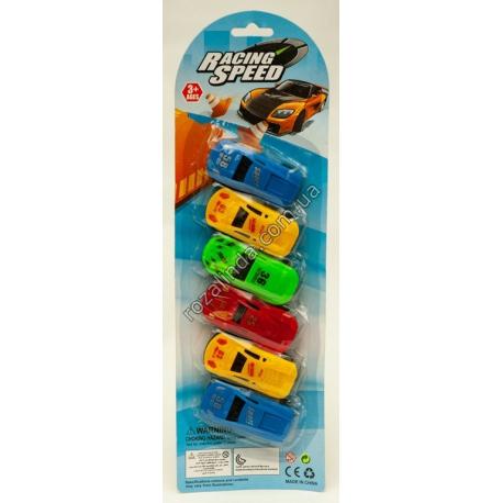 R623 Машинки модельки пластм. на блистере (6 шт./уп.)