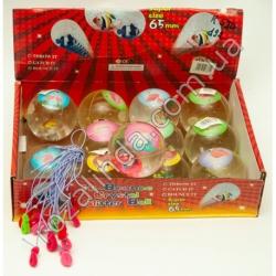 """R590 Мячик - попрыгунчик светящийся """"Фламинго"""" (Ø6,5 см)"""