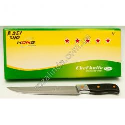 """R551 Нож чёрная ручка + металл 8"""""""