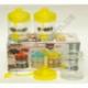 R604 Набор кухонный 3 предмета (баночки для чая/кофе/сахара) (высота 10 см, Ø8 см)
