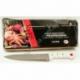 """R541 Нож кухонный фигурный бел. ручка с золотыми точками 8"""""""