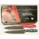 "R543 Нож кухонный красн. и чёрн. ручка с белыми узорами 7"" (30 см)"