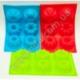 """R609 Форма для кекса 6 шт. """"пудинг"""" (силиконовая) (28,5 х 17,5 см)"""