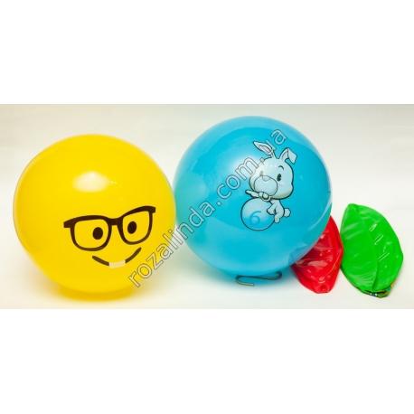 """R580 Мячик """"Смайл"""" в ассортименте (Ø18,5 см)"""