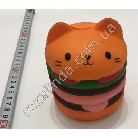 "R731 Игрушка - сквиш ""Гамбргер - Kitty"" (9 х 8 см)"
