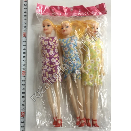 R740 Кукла Барби (3 шт. в упаковке) (26 см)