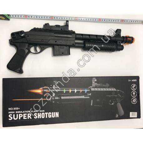 """R697 Автомат с лазером """"Super Shotgun"""" (музыка + светится) (50 х 20 см)"""