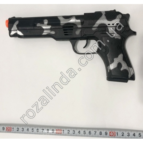 R700 Пистолет камуфляж (музыка + энерционный) (24 х 12 см)