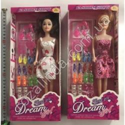 "R718 Кукла Барби + 8 пар туфлей ""Dream"""