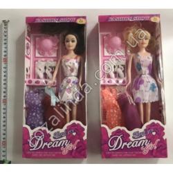 "R719 Кукла Барби + 2 одежды + 1 пара туфлей ""Dream"" (32 х 14 см)"