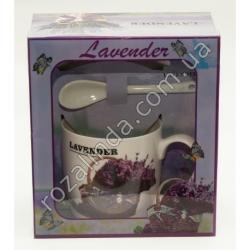 "R762 Чашка + ложка + крышка ""Lavender"" (17 х 15 х 9 см)"""
