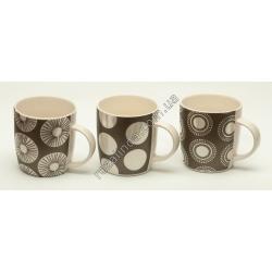 R786 Чашка рисунок кружочек (блестящая) (9 х 8 см)