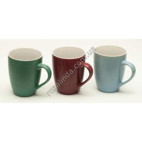 R792 Чашка цветная однотонная матовая (10,5 х 8 см)