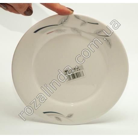 R773 Тарелка столовая (для вторых блюд) с веточками Ø17 см