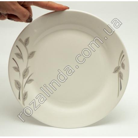 R775 Тарелка стеклокерамика столовая (для вторых блюд) с веточками Ø22 см