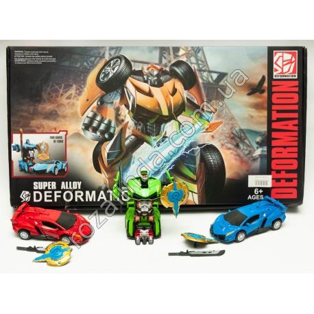 R695 Машинка - робот Трансформер (13 х 6 см)
