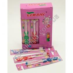 """R689B Зубная щётка """"Eomay"""" детская """"Зайчик"""" (15 см)"""