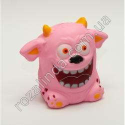 """R687H Сквиш - антистресс """"Монстр с улыбкой"""" розовый (11 х 8 х 6 см)"""