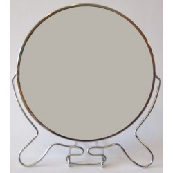 "A158 Зеркало 2х стороннее металл 6"""