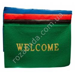 """R668 Коврик """"Welcome"""" резиновый в ассортименте (86 х 57 см) 731 г"""