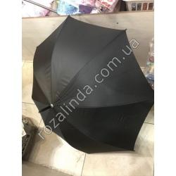 R74 Зонт мужской чёрный 2я спица (усиленный)
