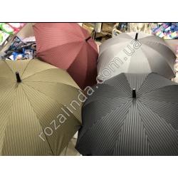 R326 Зонт - трость полоса тонкая светлая