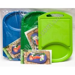 Доска разделочная пластиковая с выемкой