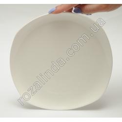 R810 Тарелка стеклокерамика для вторых блюд квадратная, закруглённая (19 см)