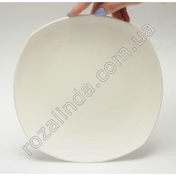 R811 Тарелка стеклокерамика для вторых блюд квадратная, закруглённая (22,5 см)