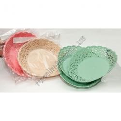 R877 Набор тарелок ажурных круглых (3 шт. в уп.) (26 см диаметр)