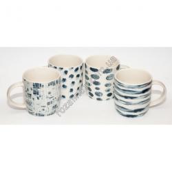 R898 Чашка голубой рисунок (9 х 9 см)