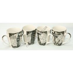 R899 Чашка чёрный принт (8,5 х 9,5 см)
