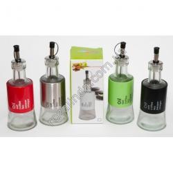 R1020 Бутылка - дозатор (малый) для масла стеклянная (испенсер уксуса) с дозатором 232 г